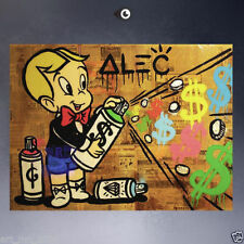 Handcraft Portrait Oil Painting on Canvas,ALEC-MONOPOLY HUGE Richie-Rich 24x32in