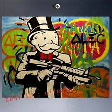 Modern Wall Decor Handcraft Portrait Oil Painting on Canvas  ALEC MONOPOLY Art