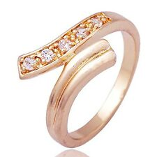 womens jewelry 14K gold filled Crystal Bridal wedding Band Ring Size 5-8