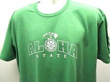 HIC & HI LIFE ALOHA TREE T-Shirt (M) HAWAIIAN ISLAND CREATIONS SURF Green 7536