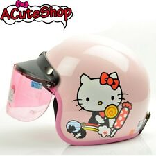 Hello Kitty Motorcycle 3/4 Open Face Helmet RETRO Candy Pink Sanrio Bike Helmet