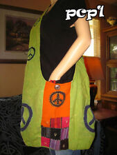 Peace Sign Patchwork with Big Peace Sign Purse, hippie, handmade