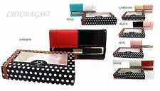 New Moda Ladies Diamante Patent Leather Style Purse Wallet Credit Card holder