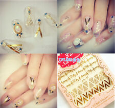 Decal New Manicure Decoration 3D Stamping Nail Art Stickers Tips Gold Mix DIY