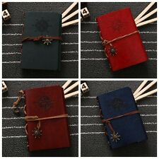 Vintage Faux Leather Cover Notepad Journal Diary Blank String Nautical Notebook
