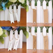 100pcs Blank/thank you Paper Hang Tags Wedding Party Favor Label Gift Cards