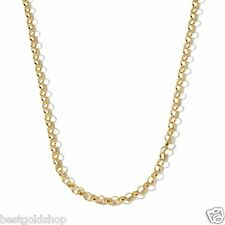 "18"" Technibond Rolo Chain Necklace 14K Yellow Rose Gold Platinum Clad Silver"