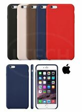Apple iPhone 6 Plus - Leather Hard Back Case with Screen Protector