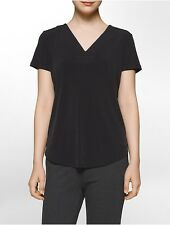 calvin klein womens lace back short sleeve top