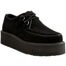 DEMONIA Men's Platform Goth Punk Rockabilly Basic Creeper Shoe CREEPER-402S