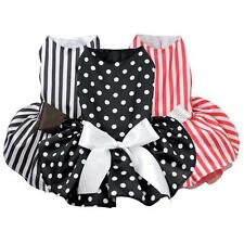 Small Pet Dog Princess Polka Dot Ribbon Dress Clothes Cozy Shirt Party Dress HOT