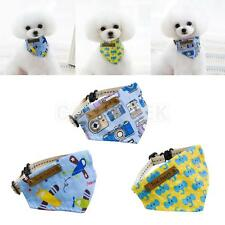 Cute Triangle Cartoon Style Pet Cat Dog Scarf Bib Collar Saliva Towel 3 Patterns