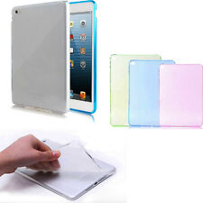 Thin Transparent Anti-Finger Back Case Cover Silicone For iPad Air 2 2nd Gen 6
