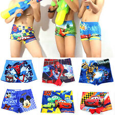 New Kids Boys Cartoon Character Printed Swim Bathing Suit Shorts Casual Swimsuit