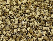 Brass Knurl Round insert Nuts - M3 / M4 /M5 / M6  Metric threaded Knurled Insert