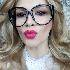 Oversized BOHO Cat Eye XL Big Clear Lens Large Fashion Sexy Glasses Frames 93035