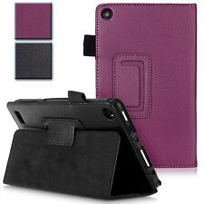 For Amazon Kindle Fire 7 Inch 2015 PU Leather Folio Protective Stand Case Cover