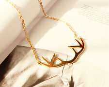 Fashion Charm Women Twig Bird Branch Infinity Pendant Gold Plated Chain Necklace