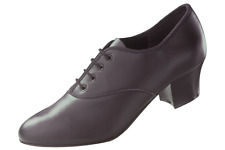 Black leather t&p cuban heel oxford character/tap dance shoes - various sizes