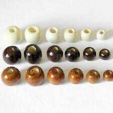50 Packs of Round Wooden Beads for Jewelry DIY Findings 10/12/14/16/17/18mm