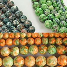1 Strand of Rain Stones Round Loose Beads DIY Jewelry Making Findings Balls