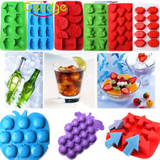 Silicone/Rubber Ice Cube Tray Mold For Bar Chocolate Soap Mould Jello Candy New