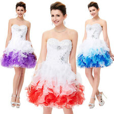 Cocktail Evening Prom Party Dress Sweet Formal Mini 3 Colors Wedding Graduation