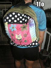 Floral Owl Patchwork w/Embroidery Handmade Backpack, hippie, boho, 100% cotton
