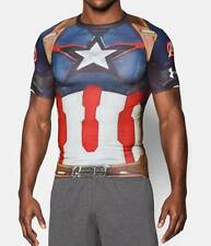 Under Armour Mens UA Alter Ego Captain America Compression Shirt - Mens Sizes