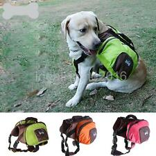 Pet Dog Saddle Bag Backpack Carrier Outdoor Hiking Camping Travel Size S-XL