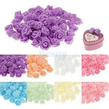 100x Artificial PE Plastic Rose Fake Flower Head Party Yard Craft Decor 8 Colors