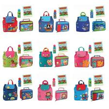Stephen Joseph Quilted Backpack Lunch Box Drink Set Kids School Preschool Bag