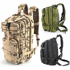 Hiking Camping Bag Army Military Tactical Trekking Rucksack Backpack Nylon