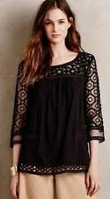 NWT Anthropologie Mantra Lace Tee Top Black by Meadow Rue 5 STAR REVIEW