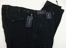 FLAW NWT $145 Polo Ralph Lauren Combat Cargo Classic Chino Pants Mens Black NEW