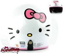 Hello Kitty Motorcycle 3/4 Open Face Helmet RETRO Face White Sanrio Bike Helmet