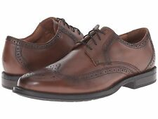 Nunn Bush Men's RYAN WING TIP oxford Leather Chestnut Shoes 84607-205