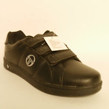 SERGIO TACCHINI PRINCE MENS BLACK VELCRO TRAINERS SIZE 11 UK TENNIS SHOES SPORT