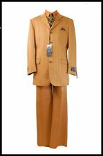New Tessori Uomo Rust Fashion 2 Pc Suit w/Paisley Vest,Tie and Pocket Square.