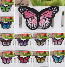 Butterfly Embroidered Applique Iron On Sewing Patch Kids Clothes DIY Accessory