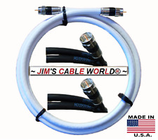 JIMS CABLE WORLD 6' 7' 8' 9' 10' 12' 15' 20' 25 FT RG~6 75Ω Coaxial Coax Cables
