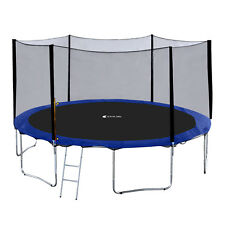 ExacMe Heavy Duty Frame 12-15FT Round Trampoline Safety Pad Enclosure Net S12-15