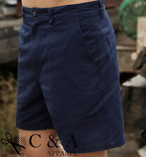 New Medium Length 100% Cotton Drill Work Shorts Wear With Utility Tools Pockets