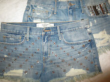 NWT Abercrombie & Fitch Woman Denim Bling Hi-Rise Jean shorts 6,10