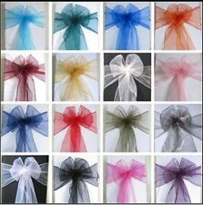 10 WEDDING CHAIR COVER SASHES ORGANZA NEW UK (LONDON)