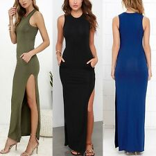 Women Summer Sleeveless Bodycon Bandage Coaktail Party Evening Maxi Long Dress