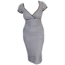 Switchblade Stiletto Gingham Annabella Dress Retro Vintage Rockabilly Pin Up