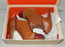 NEW W/ DEFECTS ANTHROPOLOGIE MISS ALBRIGHT RUFFLED LACE UP OXFORD HEELS ~ US 7 M