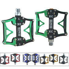 Alloy 3 Bearing RMT Bike Bicycle Platform Pedals Flat Sealed Lubricate Axle 9/16