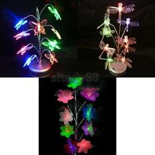 LED Artificial Bonsai Tree Colorful Light Ornament Table Lamp Decor Home
